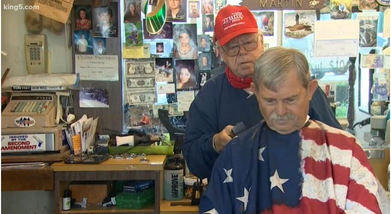 Bob Martin owner of The Stag barbershop refuses to close during coronavirus pandemic
