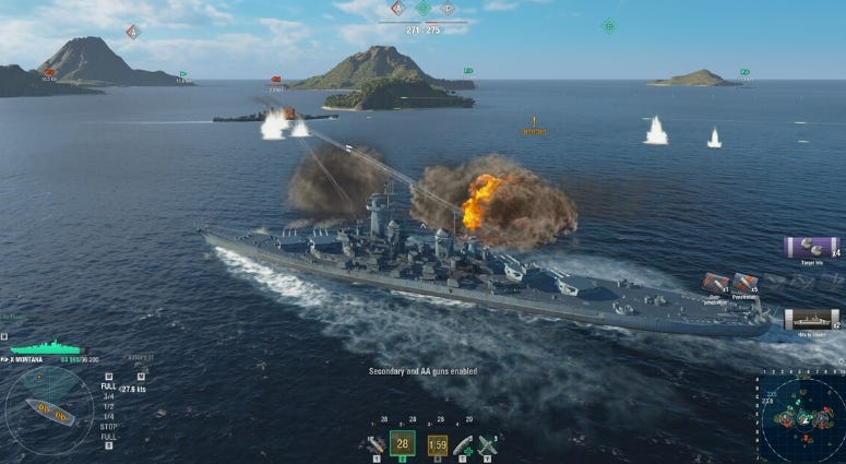 Vivid images are part of the gameplay experience in World of Warships