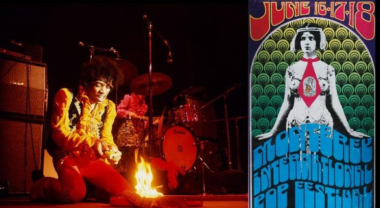 Army veteran Jimi Hendrix at Monetery Pop Festival June 18  '67