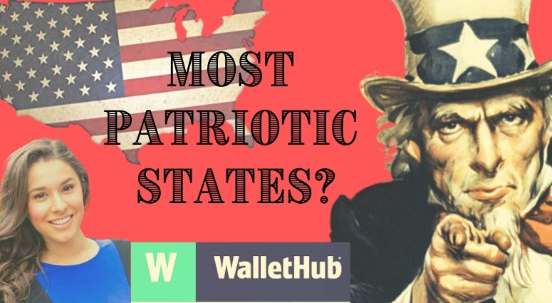 WalletHub.com's Jill Gonzalez shares results of a study of the most patriotic states in America?