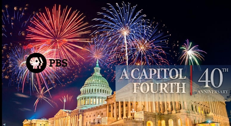 "The PBS special ""A Capitol Fourth"" airs Saturday July 4, 2020"
