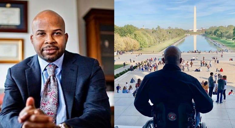 Marine Corps veteran Sherman Gillums Jr discusses racism on CBS Eye on Veterans