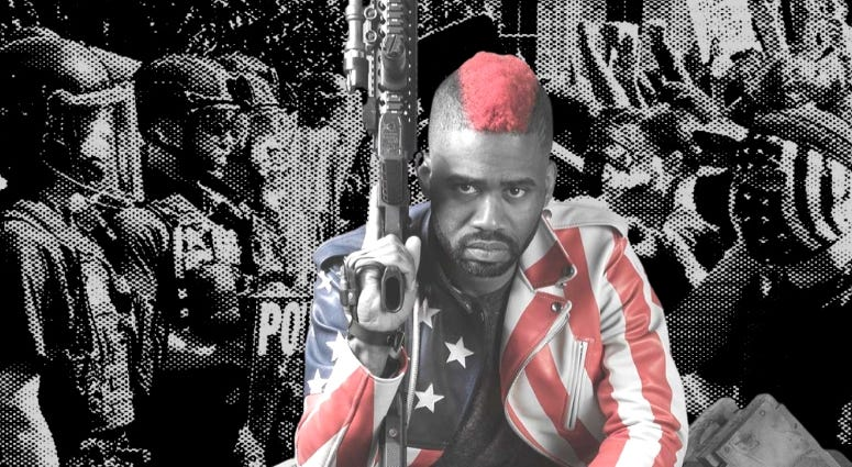 """Marine Corps combat veteran Raymond Lott aka """"The Marine Rapper"""", shares his thoughts on the current racial protests"""