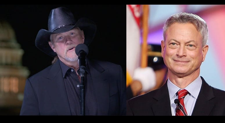 Country star Trace Adkins and actor Gary Sinise talk about PBS' National Memorial Day Concert