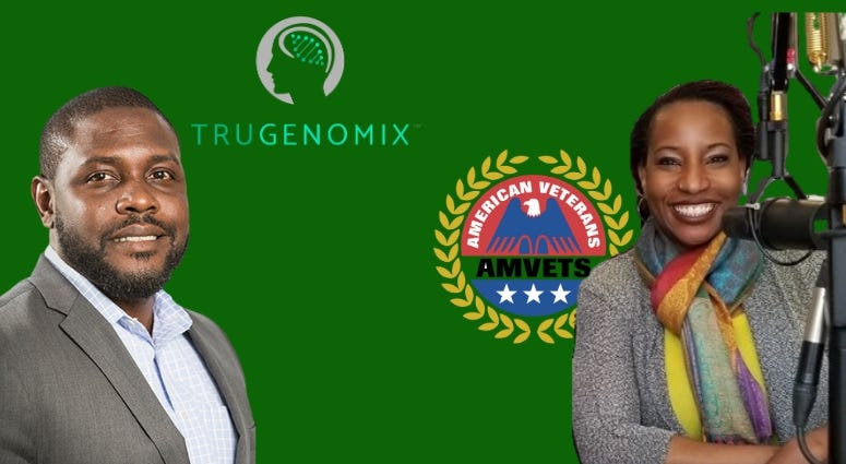 Cherissa Jackson, AMVETS Chief Medical Executive and TruGenomix Chief Innovation Officer, Yusuf Henriques talk about new research and their mission to help save veterans' lives.