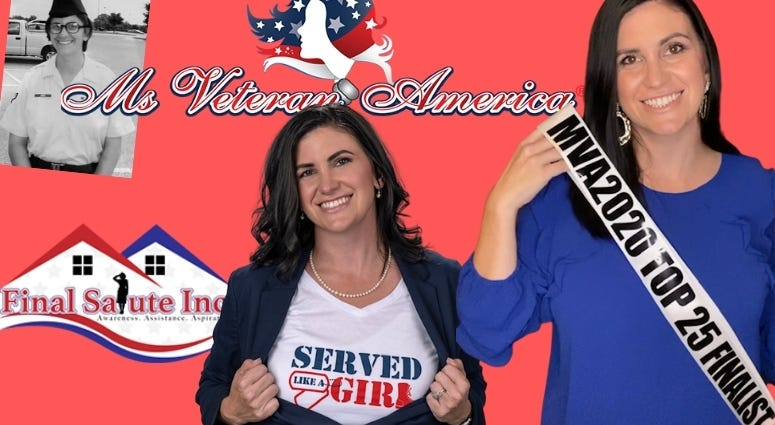 Amanda Siddons competes for Ms Veteran America and helps fight for the homeless