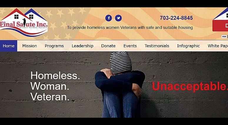Final Salute Inc 501c3 helps women veterans with resources and stable housing