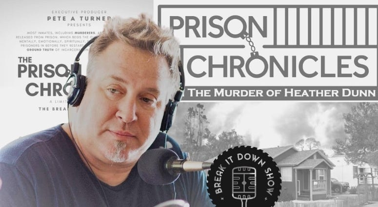 Pete Turner of The Break It Down show podcast hosts The Prison Chronicles