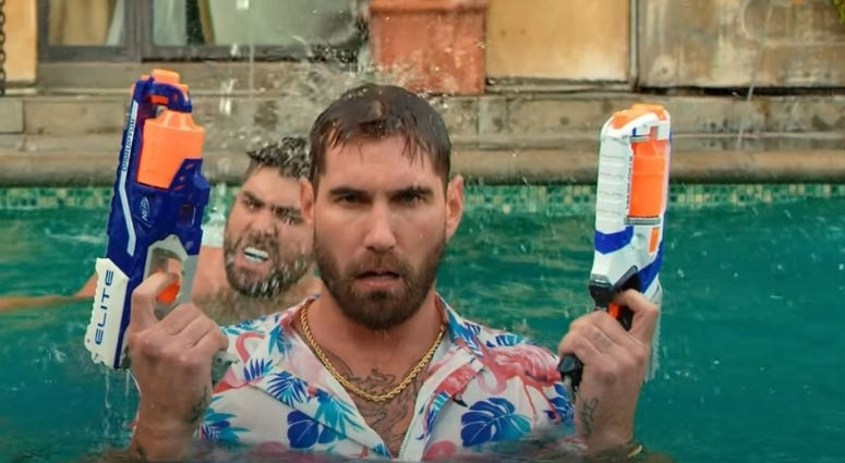 Mat Best pimpin' in the pool, in the latest Black Rifle Coffee video