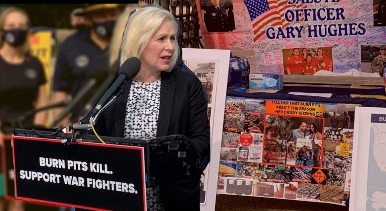 Senator Kiersten Gillibrand talks about The Presumptive Warfighters Benefits Act