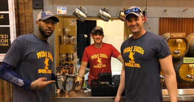 (l-r) Marine Corps veterans Courtney Brown, James Ferguson and Josh Frasier of Wild Bill's Soda