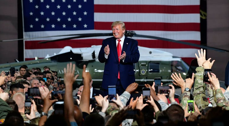 Trump speaks to U.S. troops at the Osan Airbase on June 20, 2019