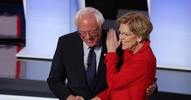 Elizabeth Warren, Bernie Sanders