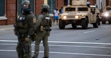 Police, National Guard in Louisville
