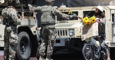 California National Guard Protests
