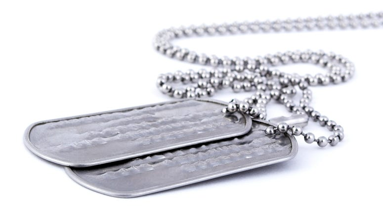 stock photo - dog tags