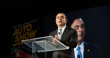 Nissan CEO Carlos Ghosn speaks during the beginning of the New York International Auto Show's press day at the Javits Center on March 23, 2016 in New York, NY.