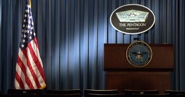 Empty Pentagon Press Room