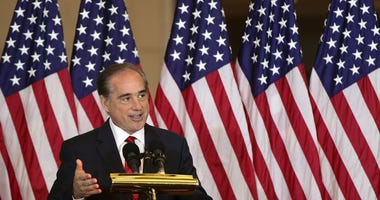 U.S. Secretary of Veterans Affairs David Shulkin speaks during a Congressional Gold Medal presentation ceremony October 25, 2017 at the U.S. Capitol Visitor Center in Washington, DC.