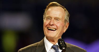 Former U.S. President Bush during Billy Graham Crusade
