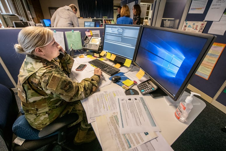 W.Va. guard assist with COVID-19 Hotline