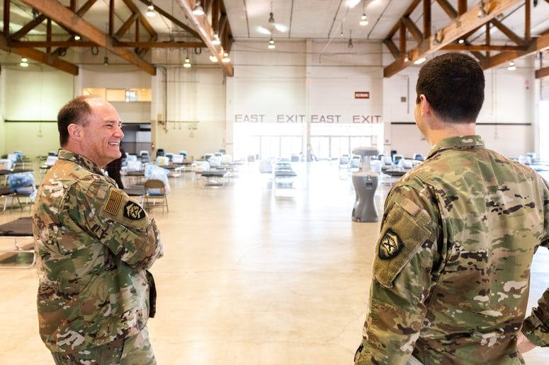 Oregon National Guard sets up Oregon Medical Station