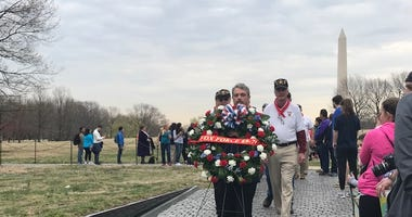 Wreath laying at The Wall
