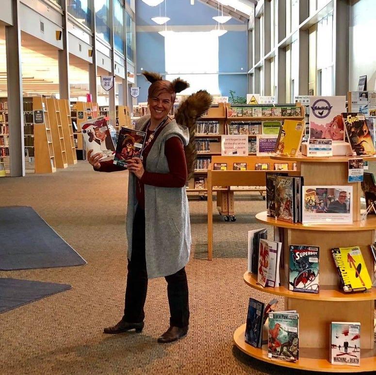 Meg Faller, pilot turned librarian.