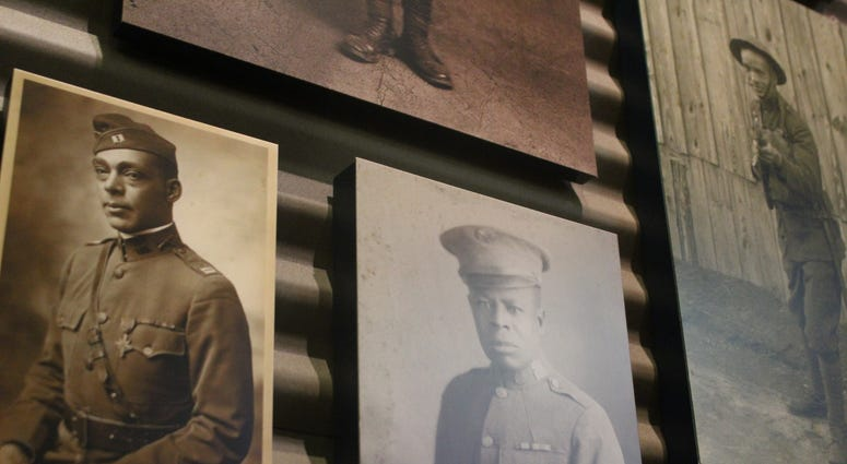 The National Museum of African American History and Culture debuted a new exhibit showcasing the history of black service men and women during World War I