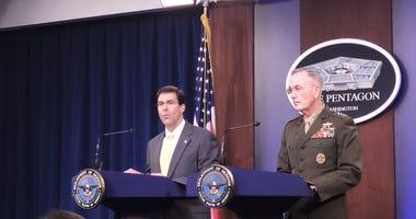 Defense Secretary Esper, Joint Chief of Staffs Dunford