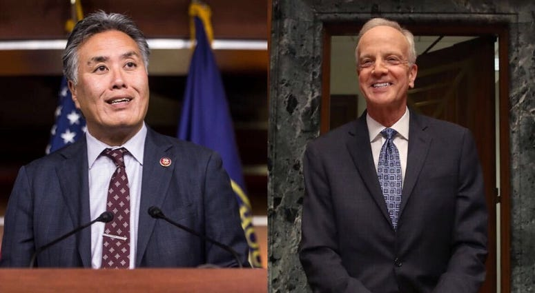 House Veterans Affairs Committee Chairman Mark Takano, D-California, and Senate Veterans Affairs Committee Chairman Jerry Moran, R-Kansas.