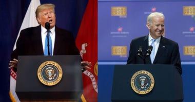 Presidential candidates Donald Trump and Joe Biden