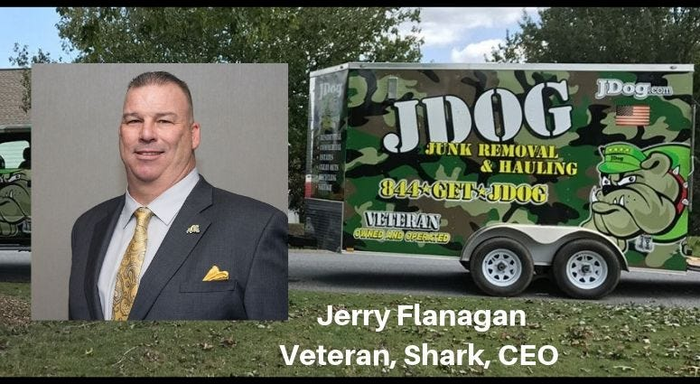 Army veteran, Jerry Flanagan who founded JDog Junk Removal