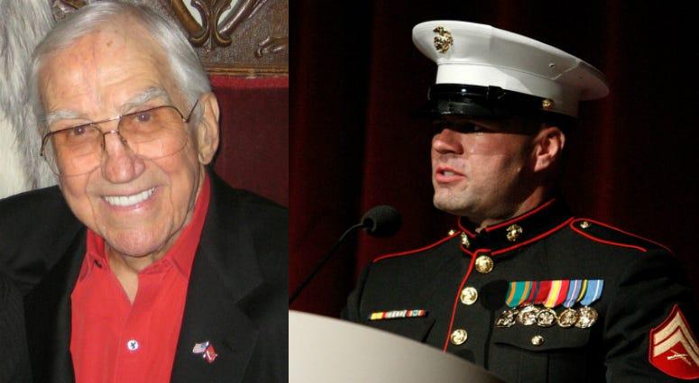 Col. Ed McMahon (l) and his son Cpl. Lex McMahon (r)