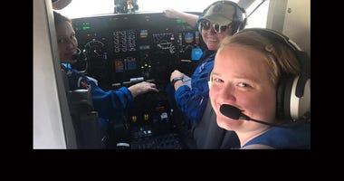 All-female crew crew tracks Dorian for NOAA
