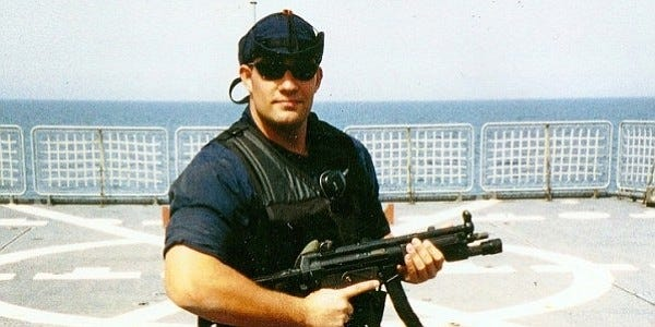 Petty Officer 3rd Class Bruckenthal, a damage controlman, and two U. S. Navy sailors were killed in the line of duty while conducting maritime intercept operations