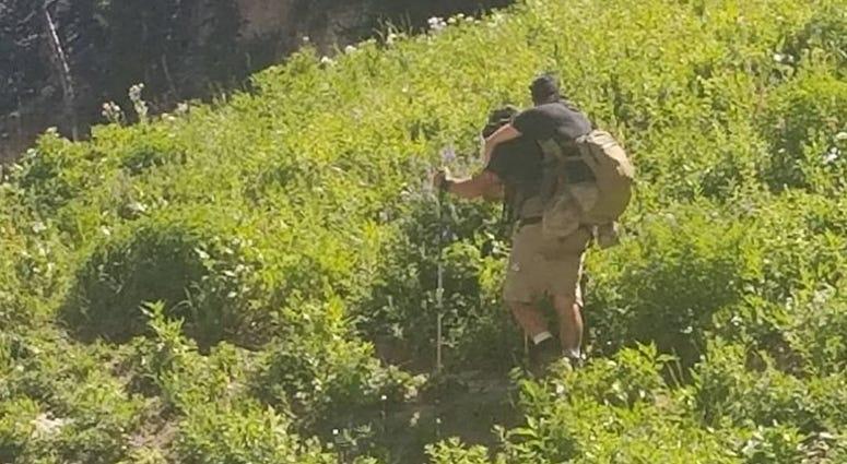 Marine carries fellow veteran up Mt. Timpanogos hike in Utah