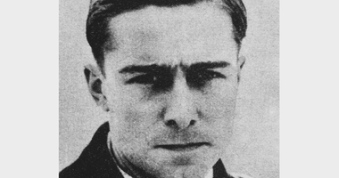 German field officer Joachim Peiper (1915 - 1976) of the Waffen-SS, circa 1940. He is wearing the Iron Cross awarded to him in 1940.