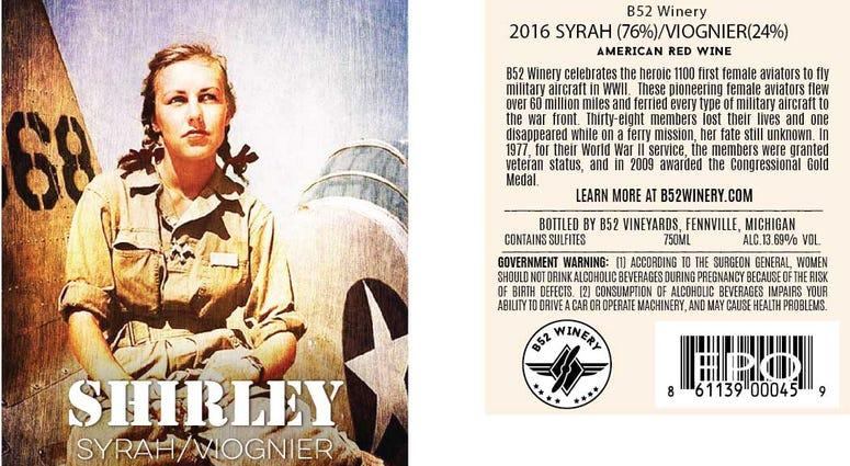 Shirley Wine Label