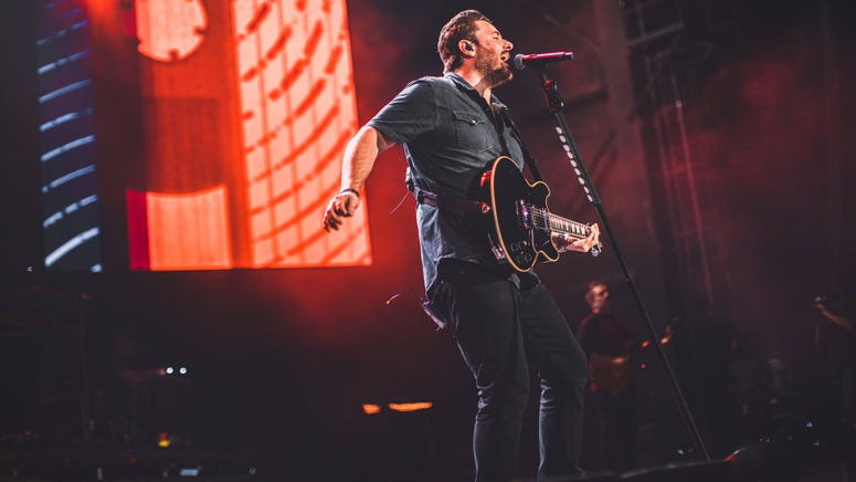 Chris Young on stage during the Raised on Country World Tour presented by USAA