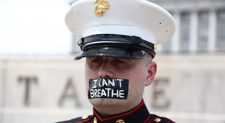 Todd Winn, a Marine veteran, gained national attention after he protested in uniform outside the Utah state capitol for so long his shoes melted to the pavement.