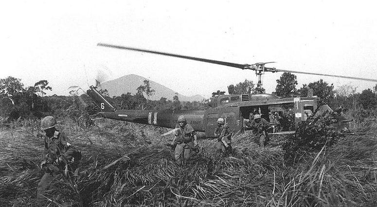 Helicopter in Vietnam