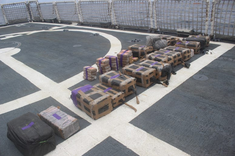12,000 pounds of cocaine, worth over $165 million, intercepted by Coast Guard.