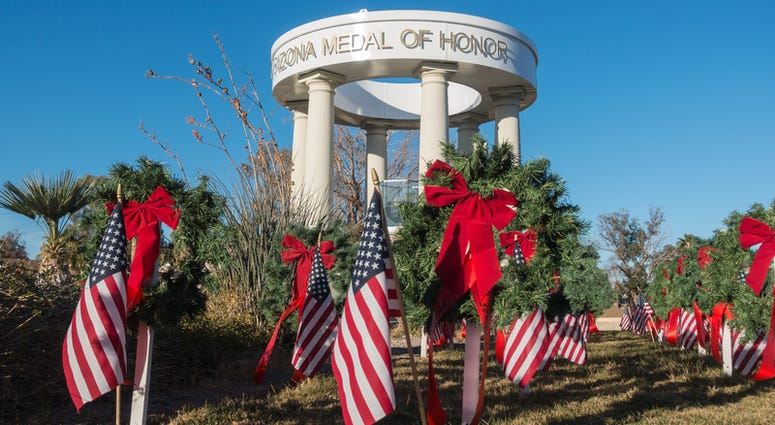 The Veterans Memorial on the Colorado River, Bullhead City, Arizona