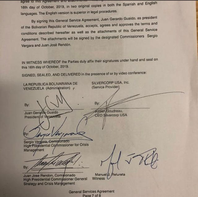 Silvercorp contract