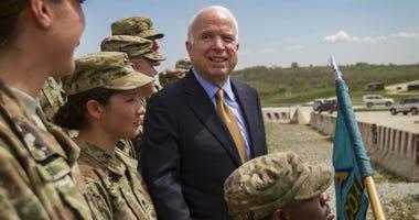 Sen. Johnny Isakson (R-Ga.) blasts Trump for his repeated attacks on the late John McCain.