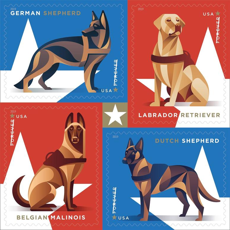 USPS Military Working Dog Forever Stamp