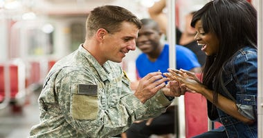 Jimmy The Jeweler wants to give a free engagement ring to a military member