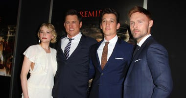 "Haley Bennett, Director Jason Hall, Miles Teller and Scott Haze. ""Thank You For Your Service"" Premiere."