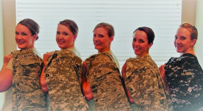 Five sisters from Utah follow their military dreams: they're all serving in different branches.